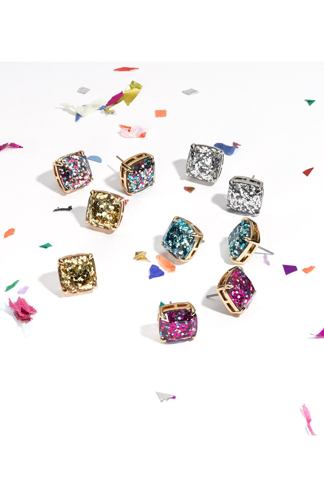 Alternate Image 4  - kate spade new york glitter stud earrings