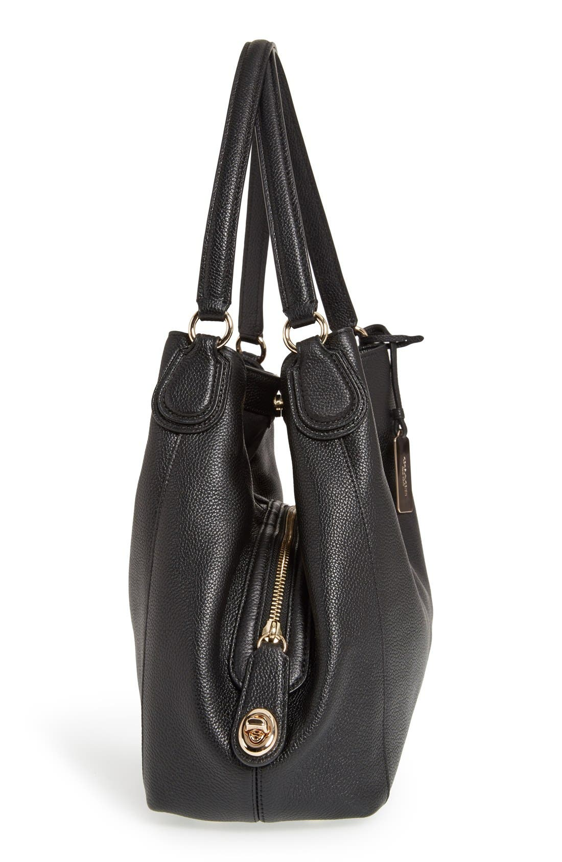 Alternate Image 5  - Coach 'Edie' Pebbled Leather Shoulder Bag