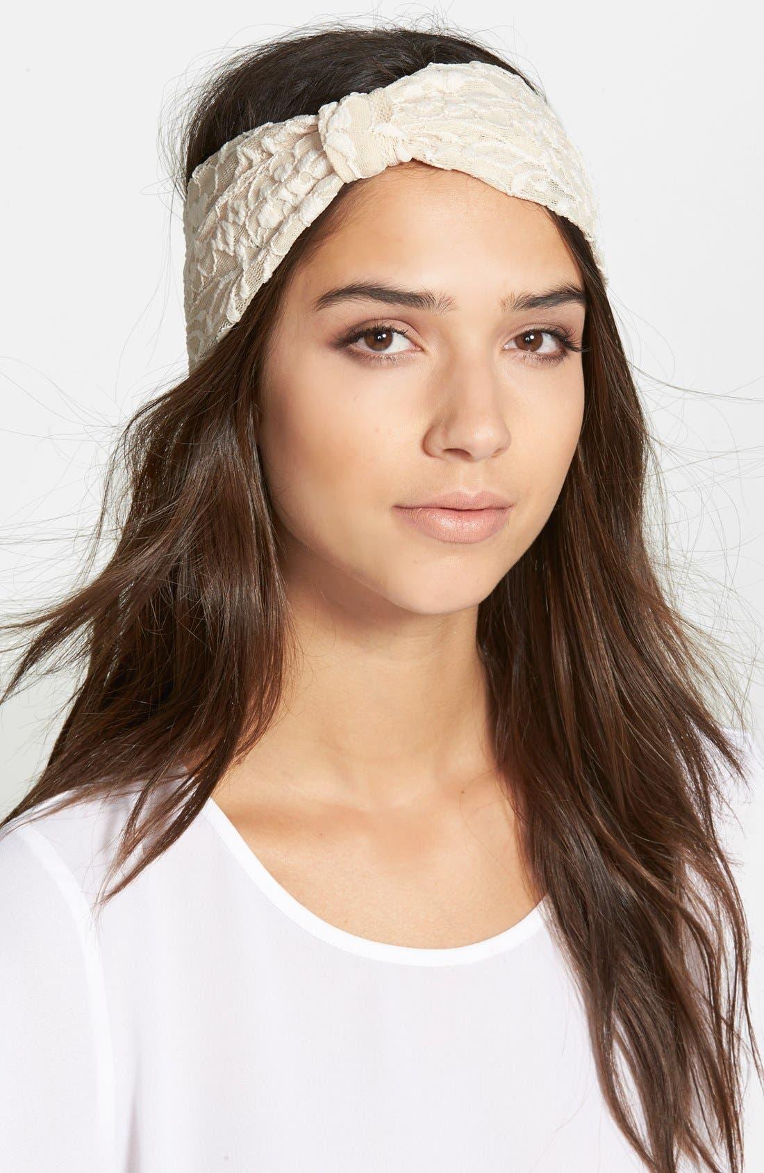 Alternate Image 1 Selected - Cara Lace Head Wrap