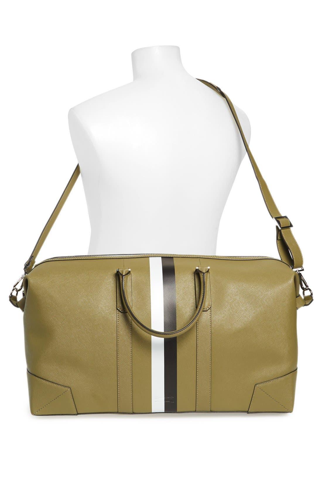 Alternate Image 2  - Ben Minkoff 'Wythe' Weekend Size Saffiano Leather Duffel Bag