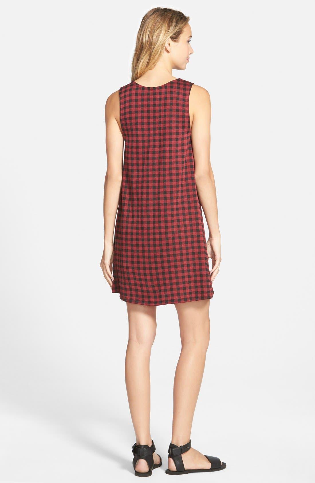 Alternate Image 2  - Socialite Plaid Sleeveless Shift Dress