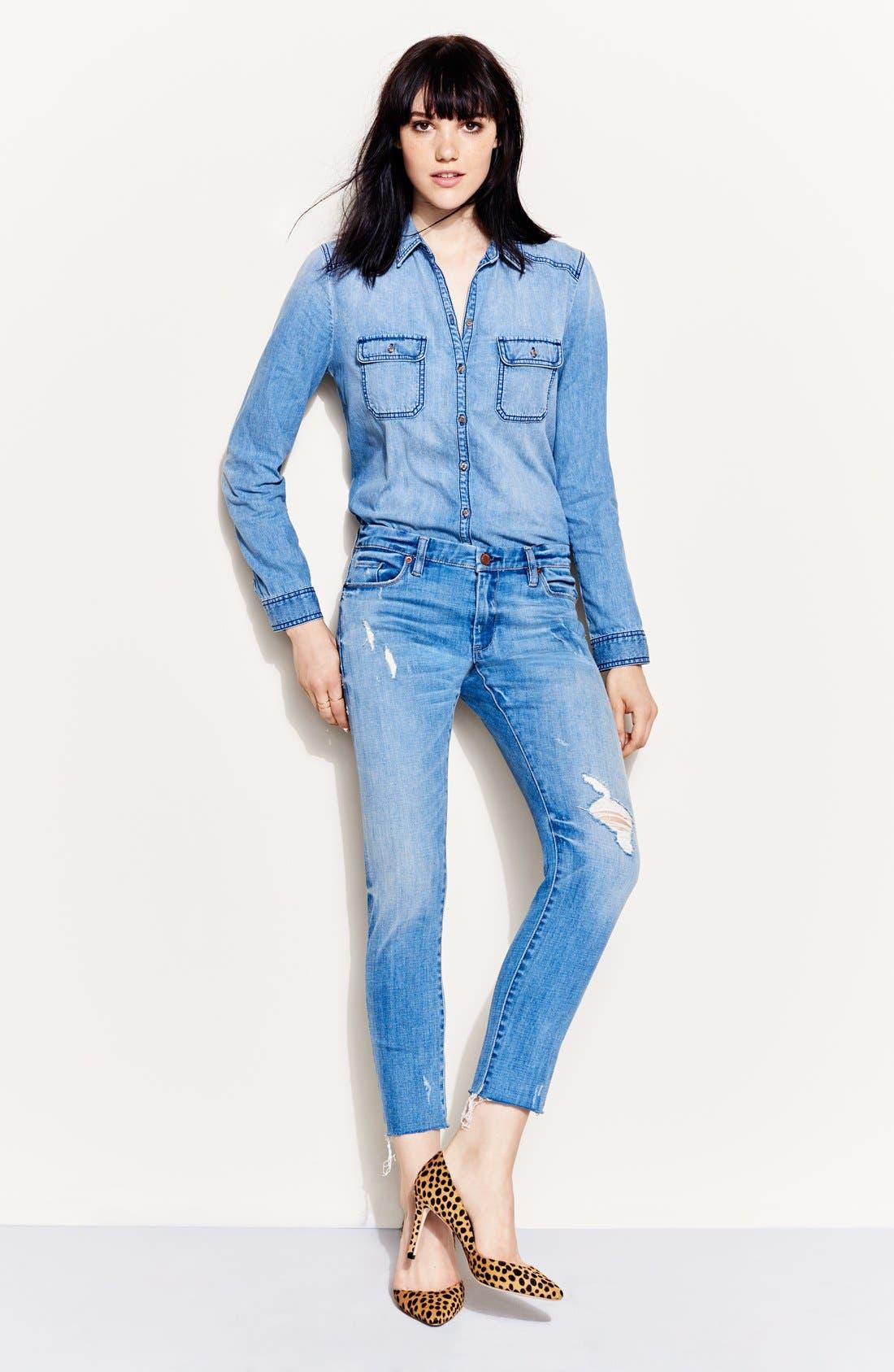 Alternate Image 5  - BLANKNYC 'Kale Yeah' Distressed Skinny Jeans (Medium)