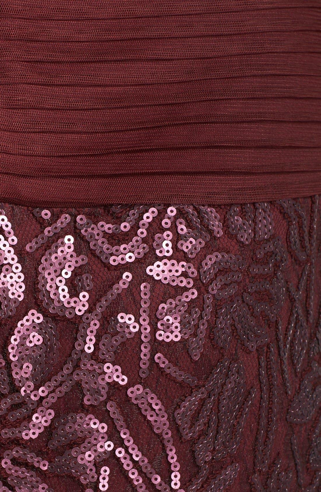 Alternate Image 3  - Tadashi Shoji Sequin Lace Gown (Regular & Petite)