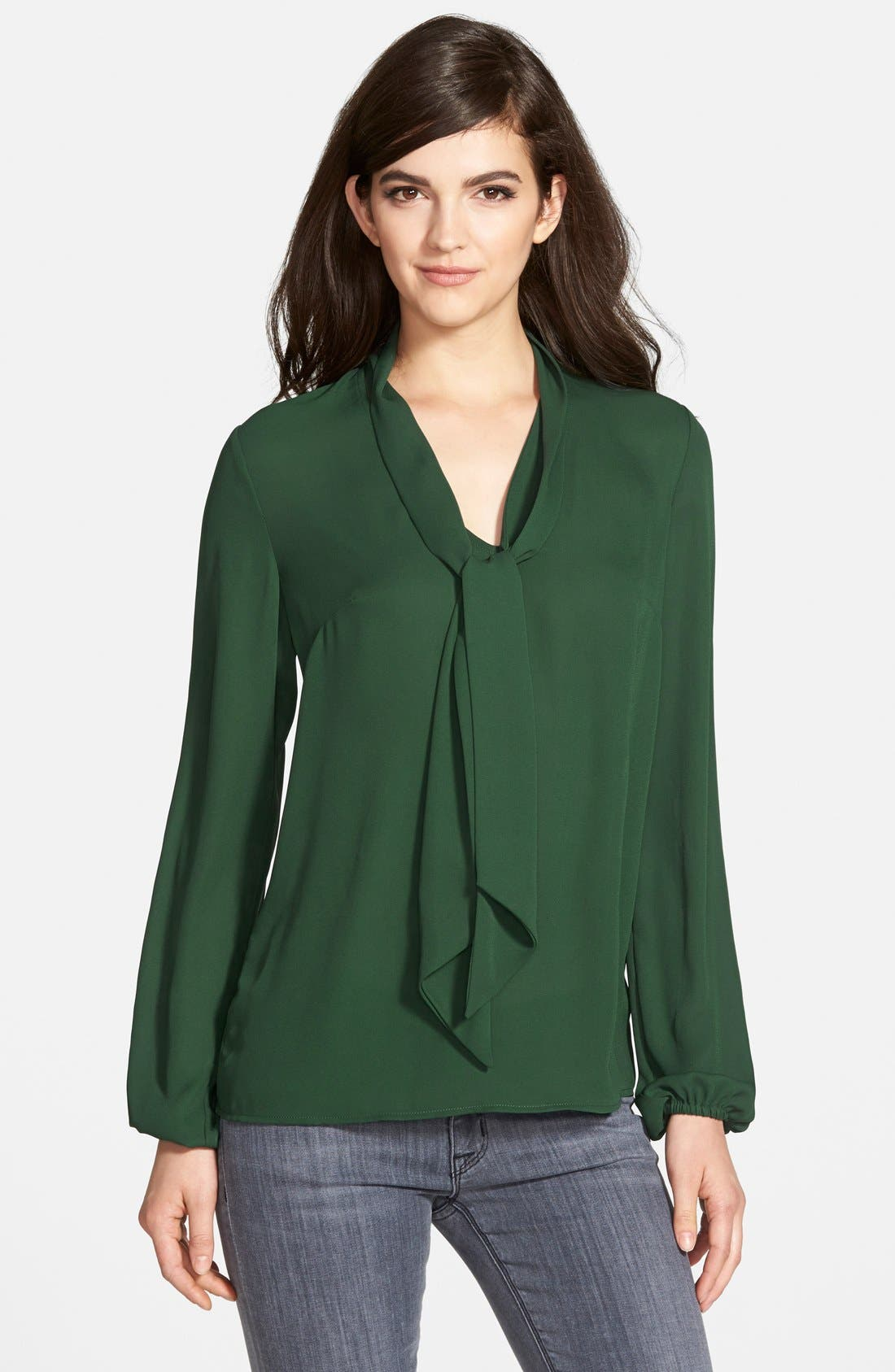 Main Image - Bailey 44 Long Sleeve Tie Neck Blouse (Nordstrom Exclusive)
