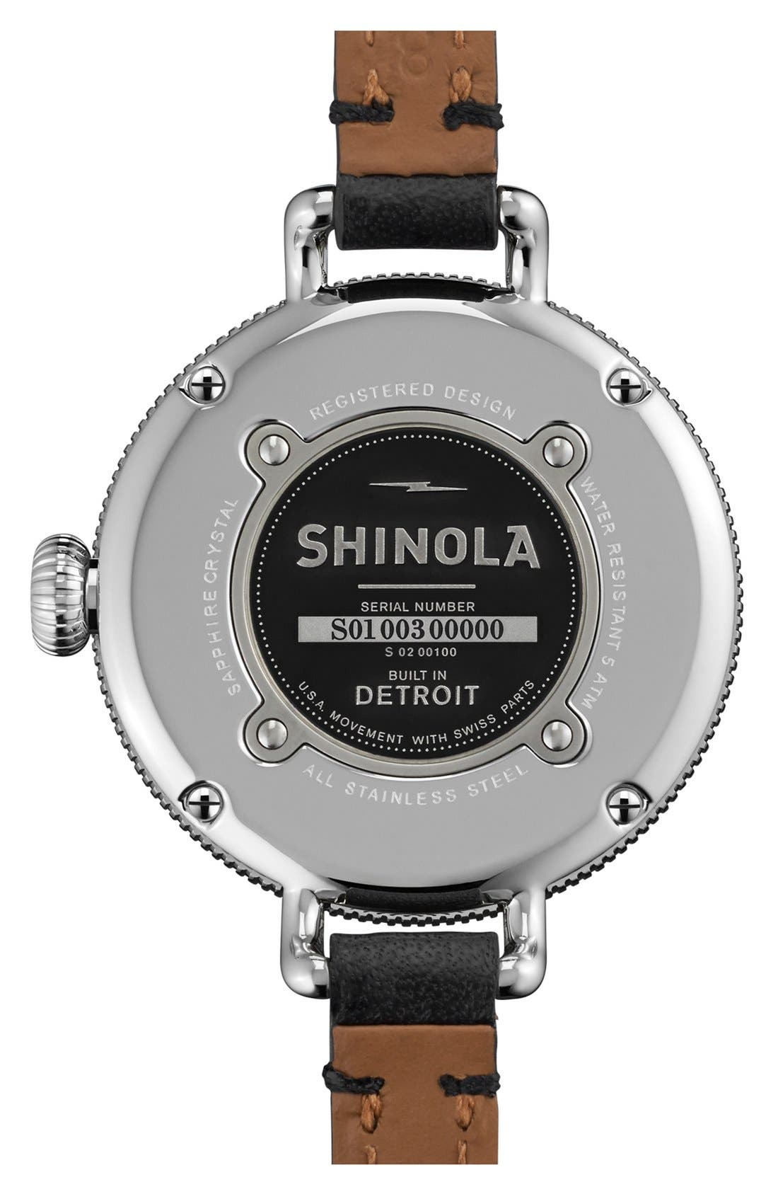 Alternate Image 3  - Shinola 'The Birdy' Double Wrap Leather Strap Watch, 34mm