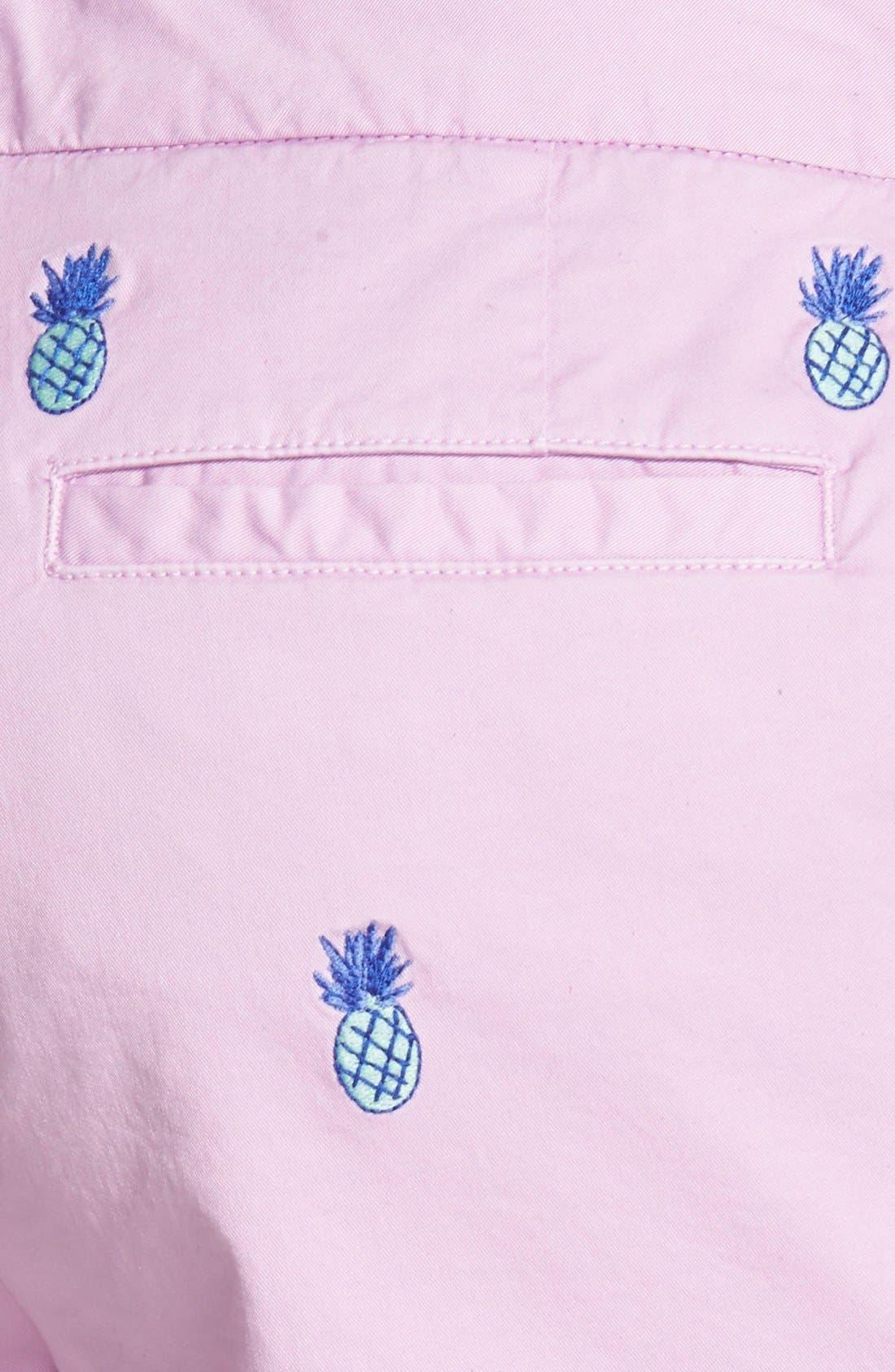 Alternate Image 3  - Vineyard Vines Pineapple Embroidered Shorts