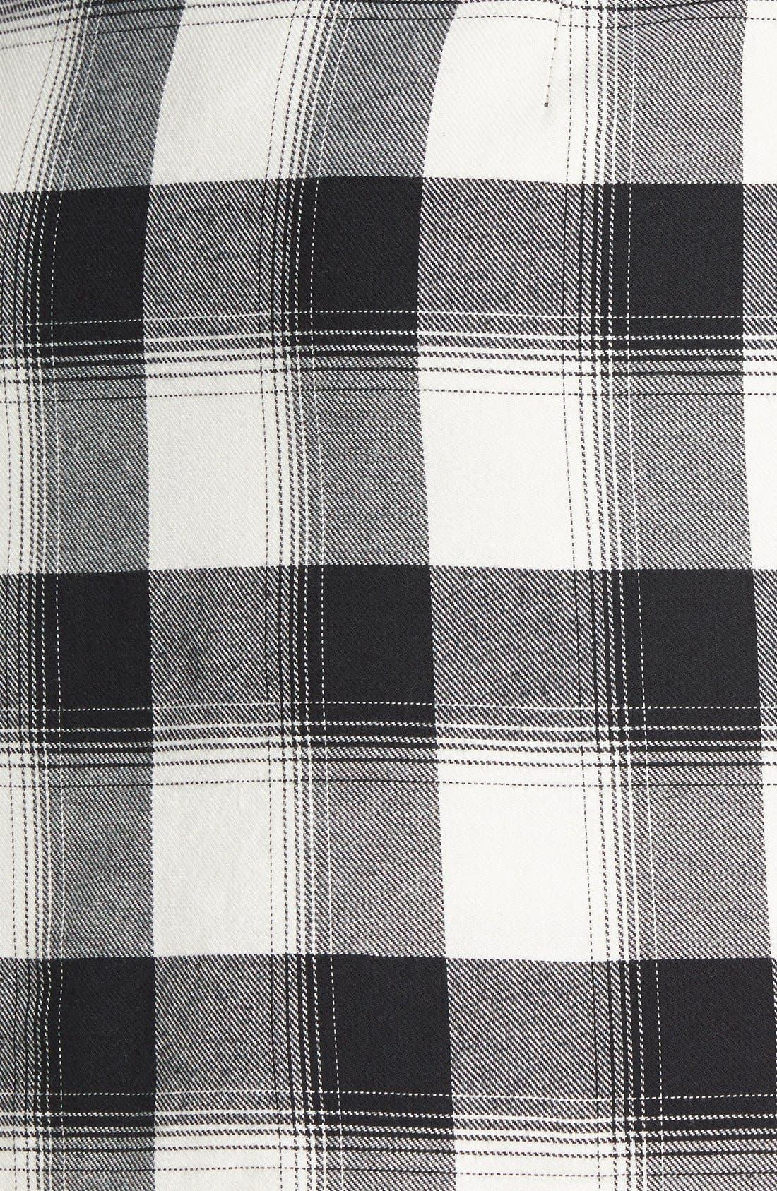 Alternate Image 4  - Treasure&Bond Plaid Miniskirt