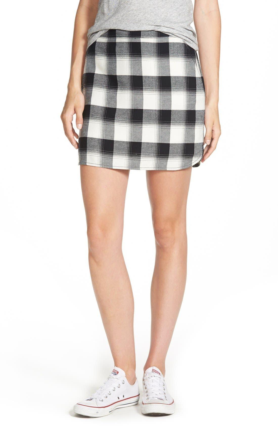 Alternate Image 1 Selected - Treasure&Bond Plaid Miniskirt