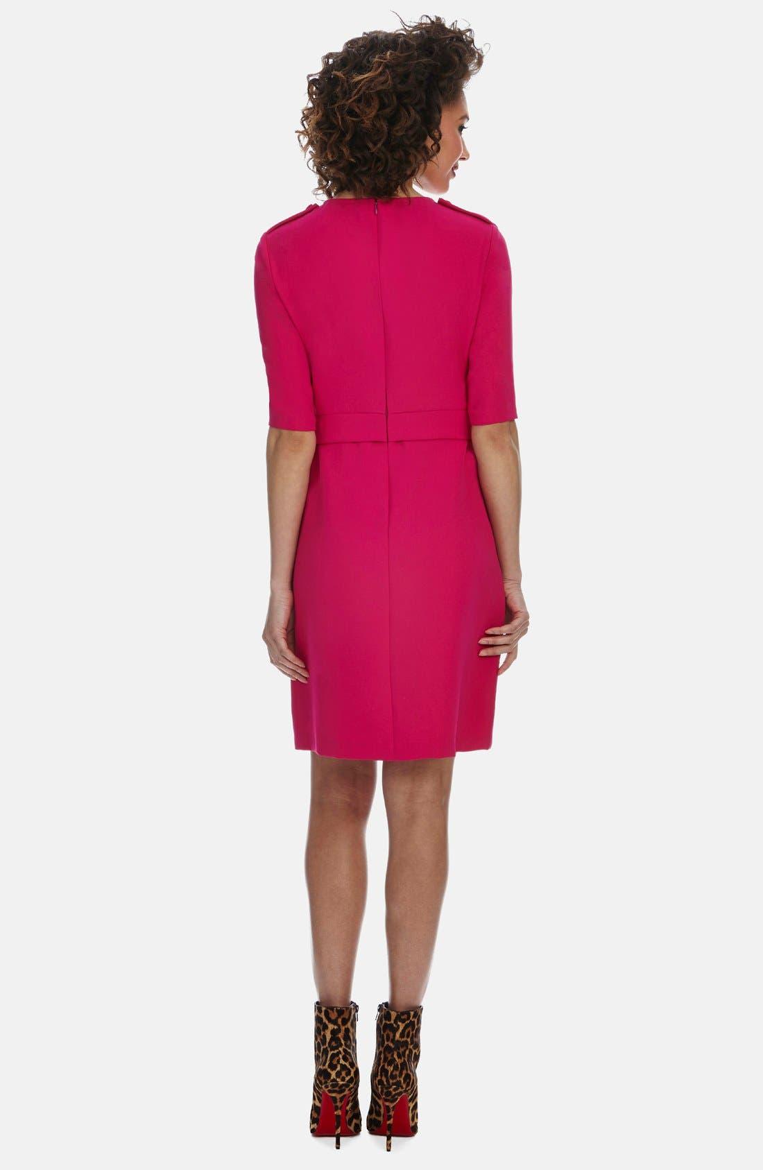 Alternate Image 2  - Donna Morgan Crepe Sheath Dress (Regular & Petite)