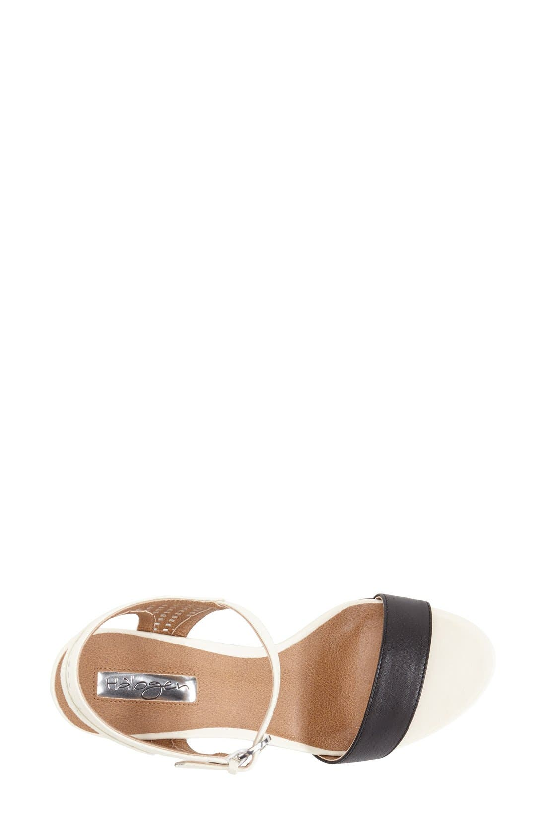 Alternate Image 3  - Halogen 'Helen' Perforated Leather Ankle Strap Wedge Sandal (Women)