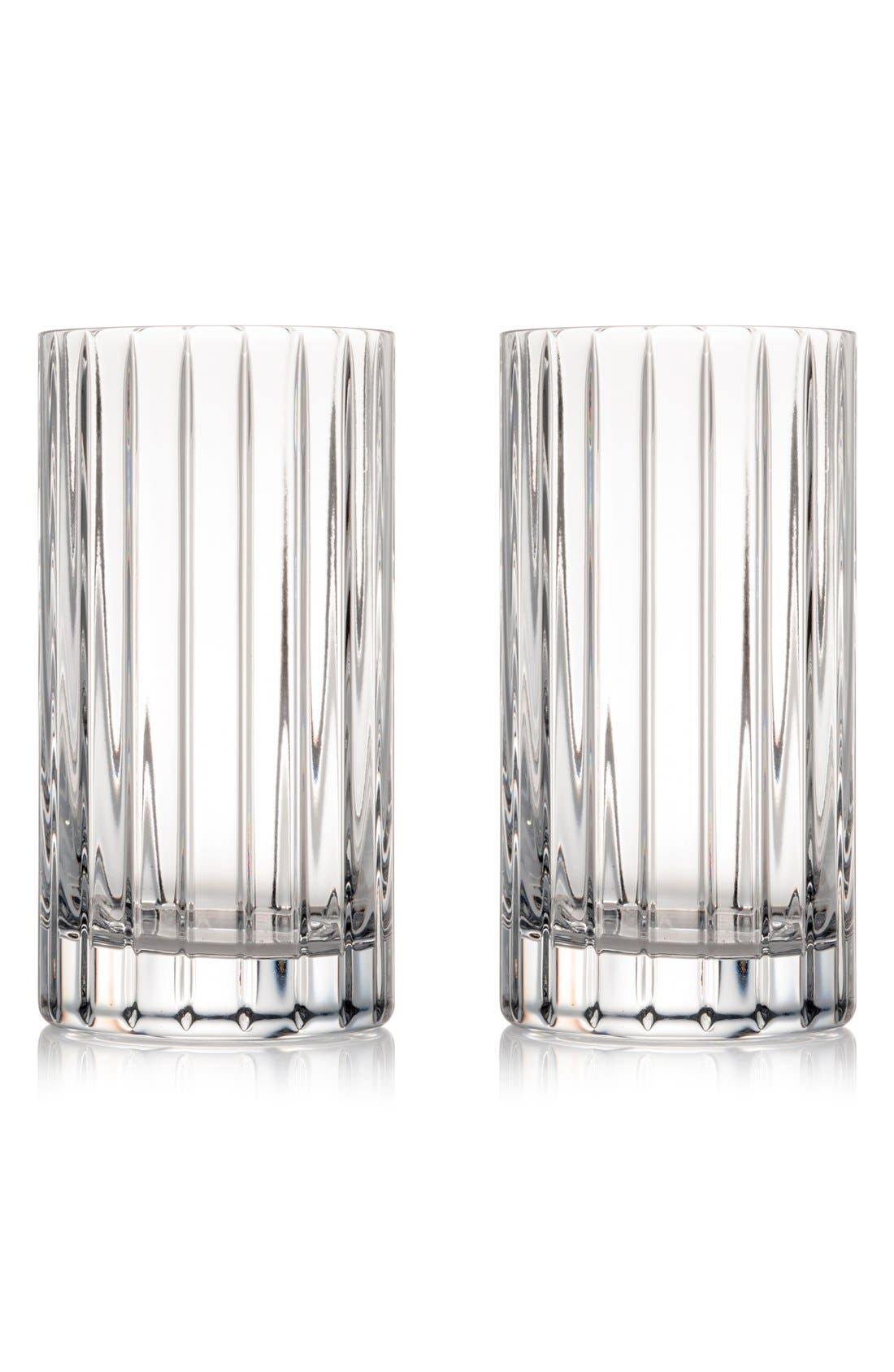 Rogaska Crystal 'Avenue' Lead Crystal Highball Glasses (Set of 2)