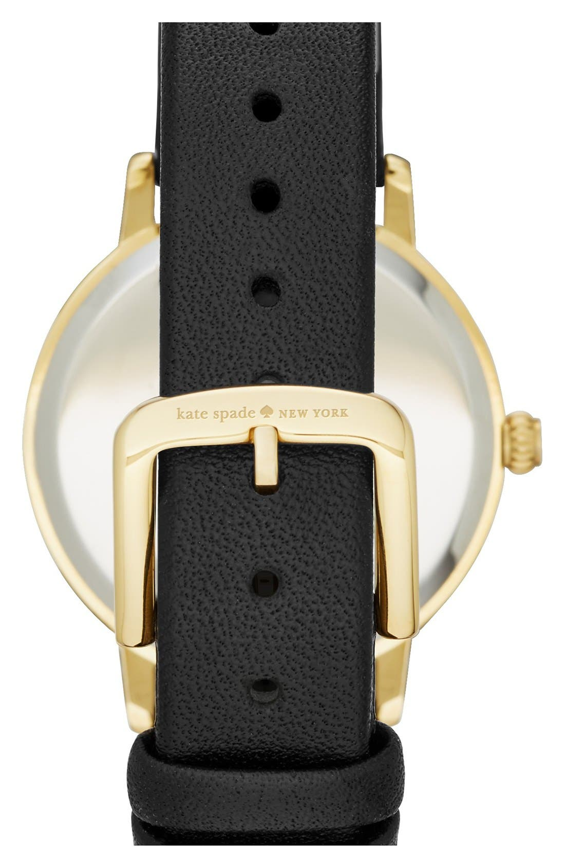Alternate Image 2  - kate spade new york 'metro - night owl' leather strap watch, 33mm