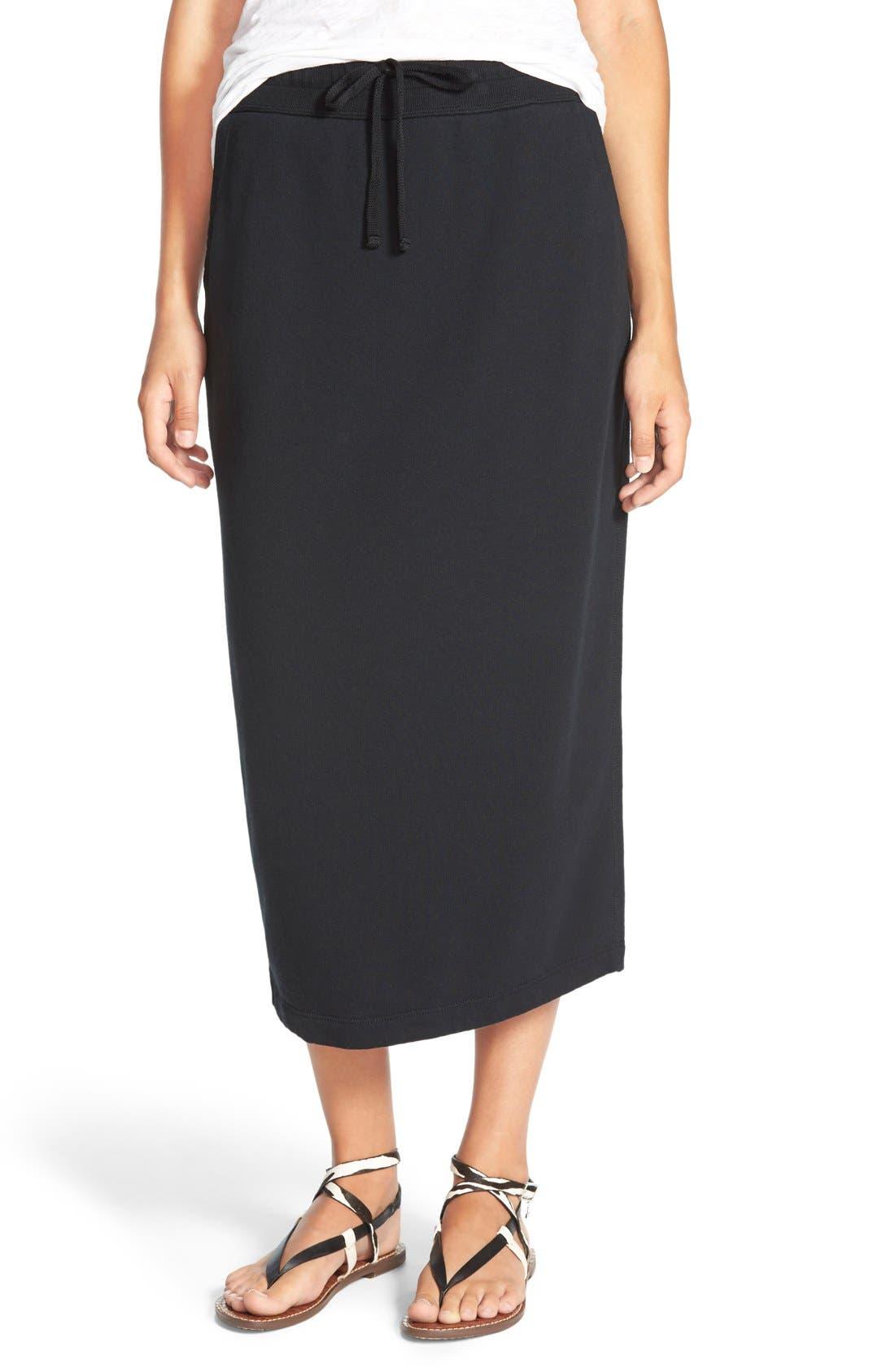 Alternate Image 1 Selected - James Perse Fleece Pencil Skirt