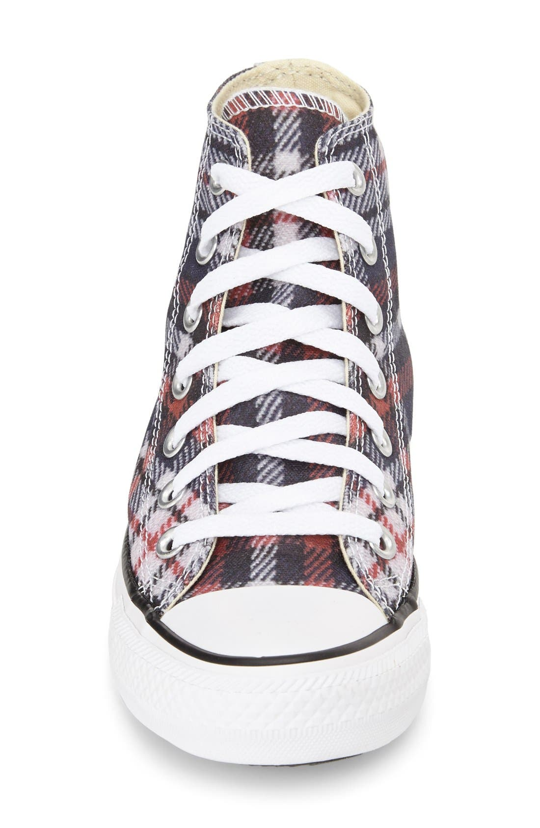 Alternate Image 3  - Converse Chuck Taylor® All Star® Plaid High Top Sneaker (Women)