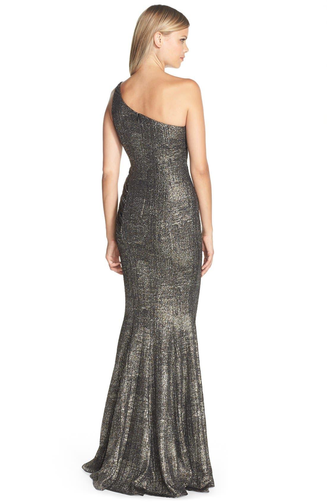 Alternate Image 2  - Jay Godfrey 'Windermere' Metallic Jersey Mermaid Gown