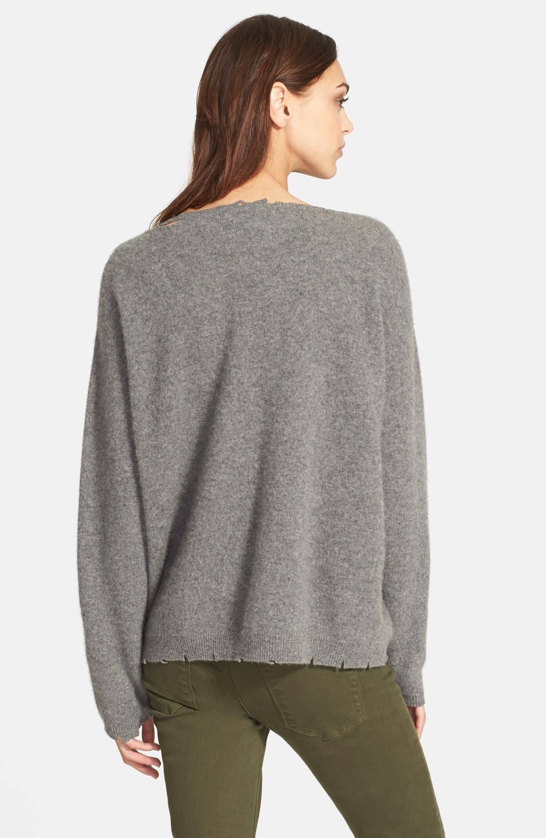 Alternate Image 2  - RtA Destroyed Cashmere Sweater