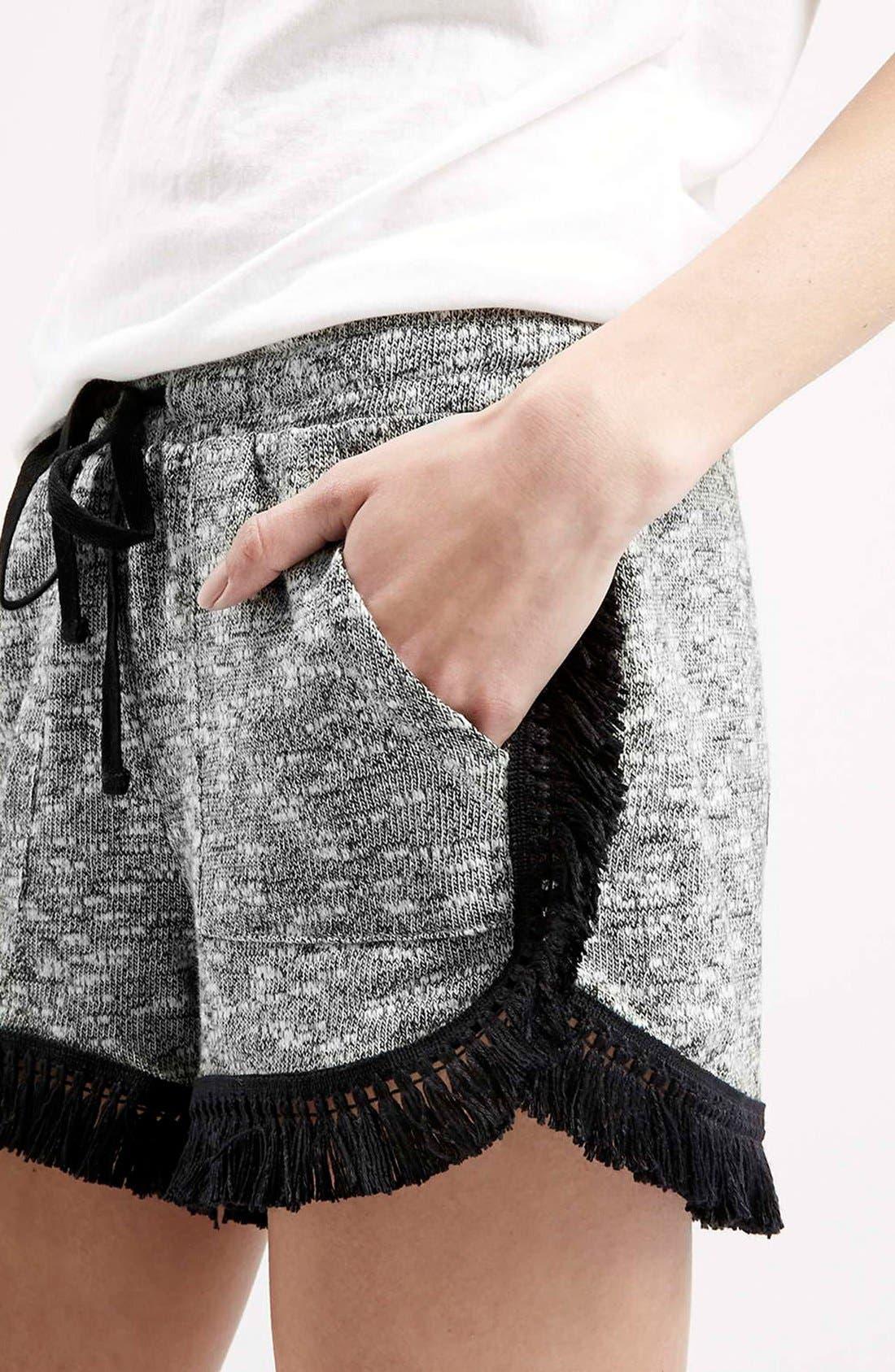 Alternate Image 5  - Topshop Fringe Drawstring Shorts