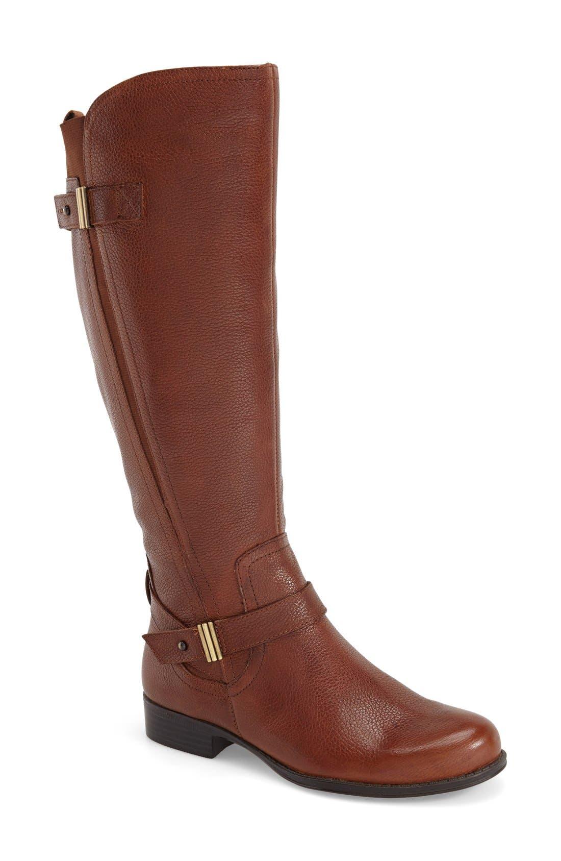 Alternate Image 1 Selected - Naturalizer 'Joan' Riding Boot (Women) (Wide Calf)