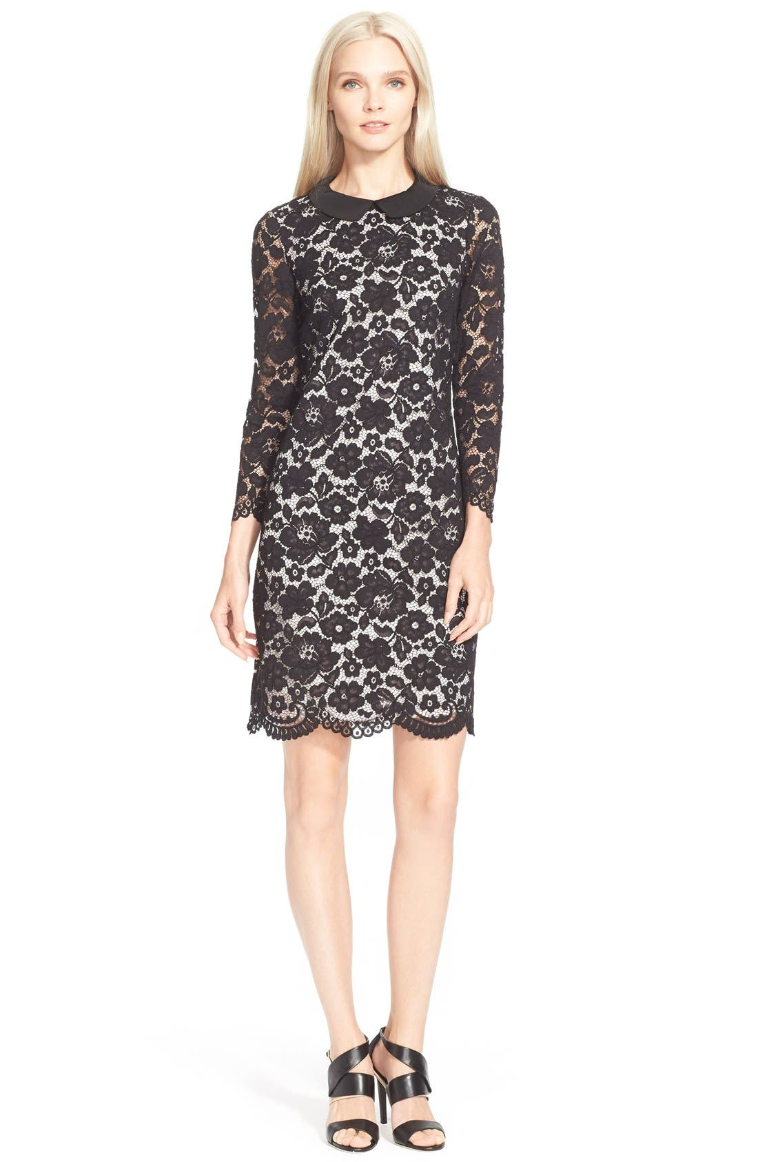 Main Image - Ted Baker London 'Ameera' Scallop Hem Lace Dress