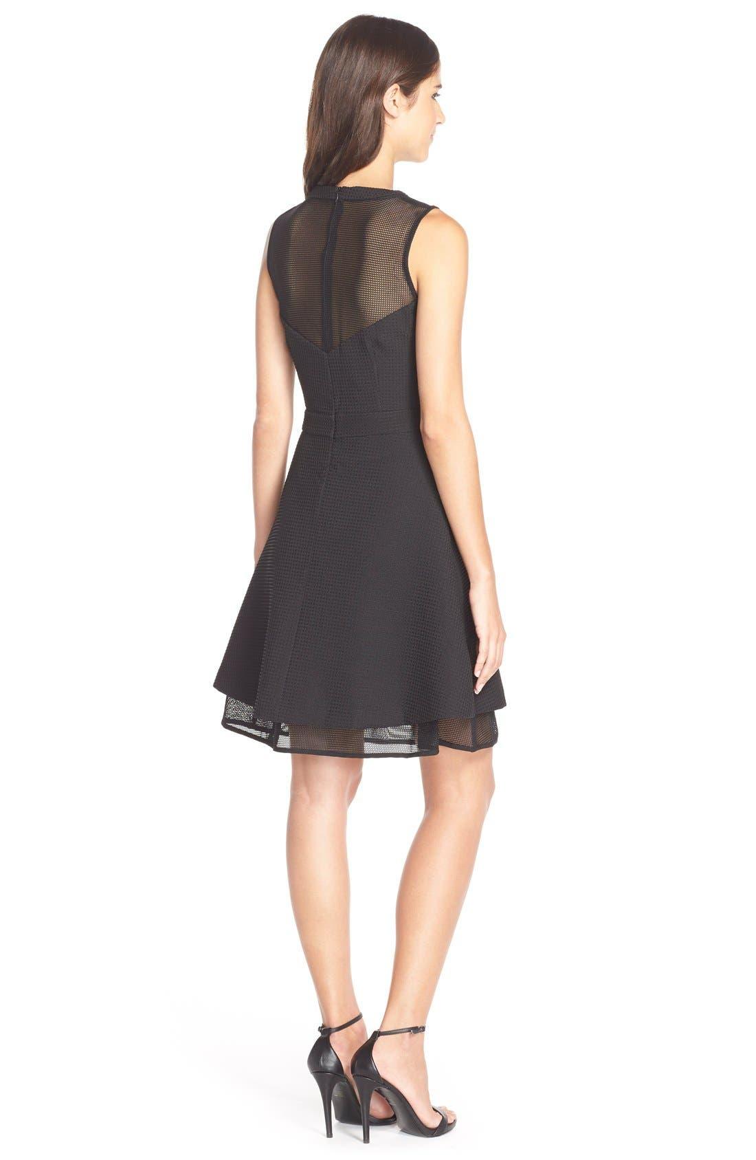 Alternate Image 2  - Elliatt'Attractions' Tiered Mesh Fit & Flare Dress