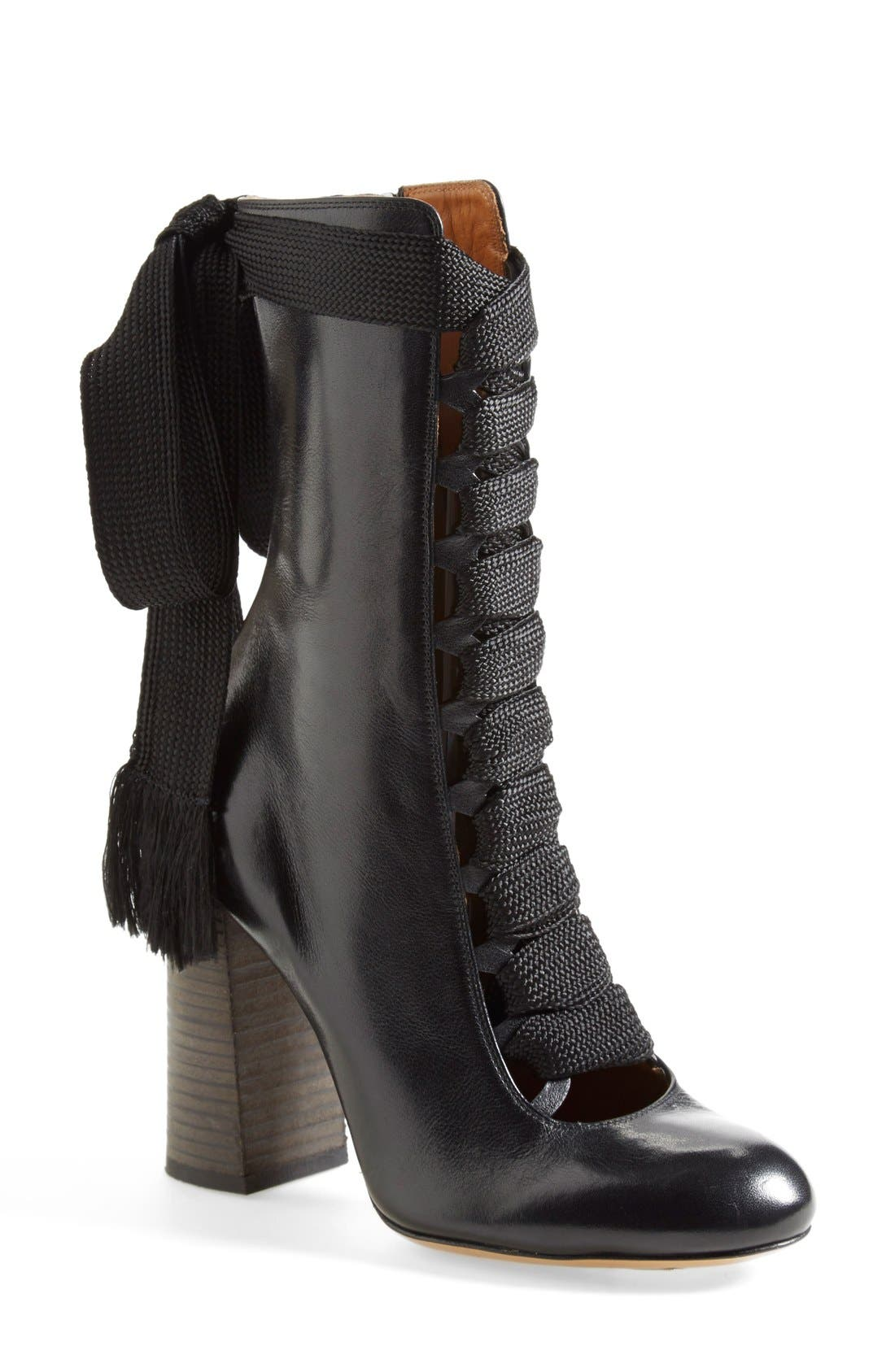 Alternate Image 1 Selected - Chloé 'Harper' Lace-Up Boot (Women)