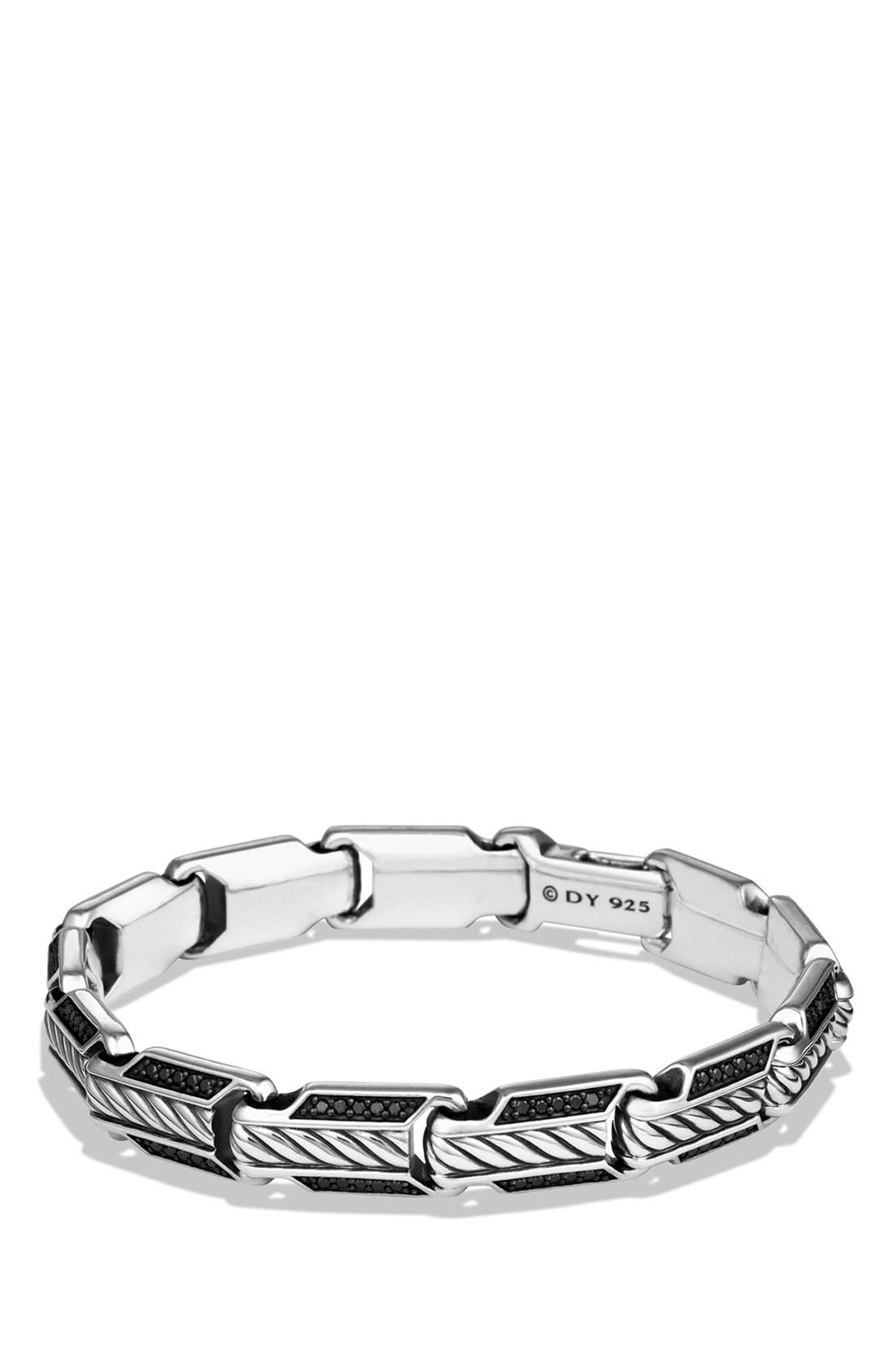 David Yurman 'Cable Classics' Beveled Edge Chain Bracelet with Diamonds