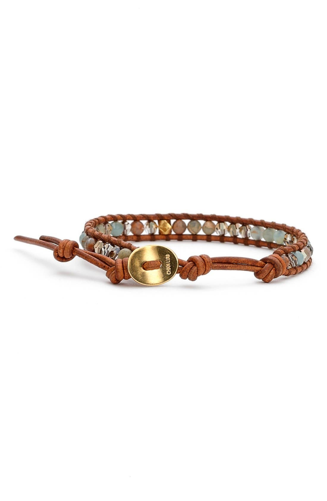 Alternate Image 2  - Chan LuuSemiprecious StoneBeaded Leather Bracelet