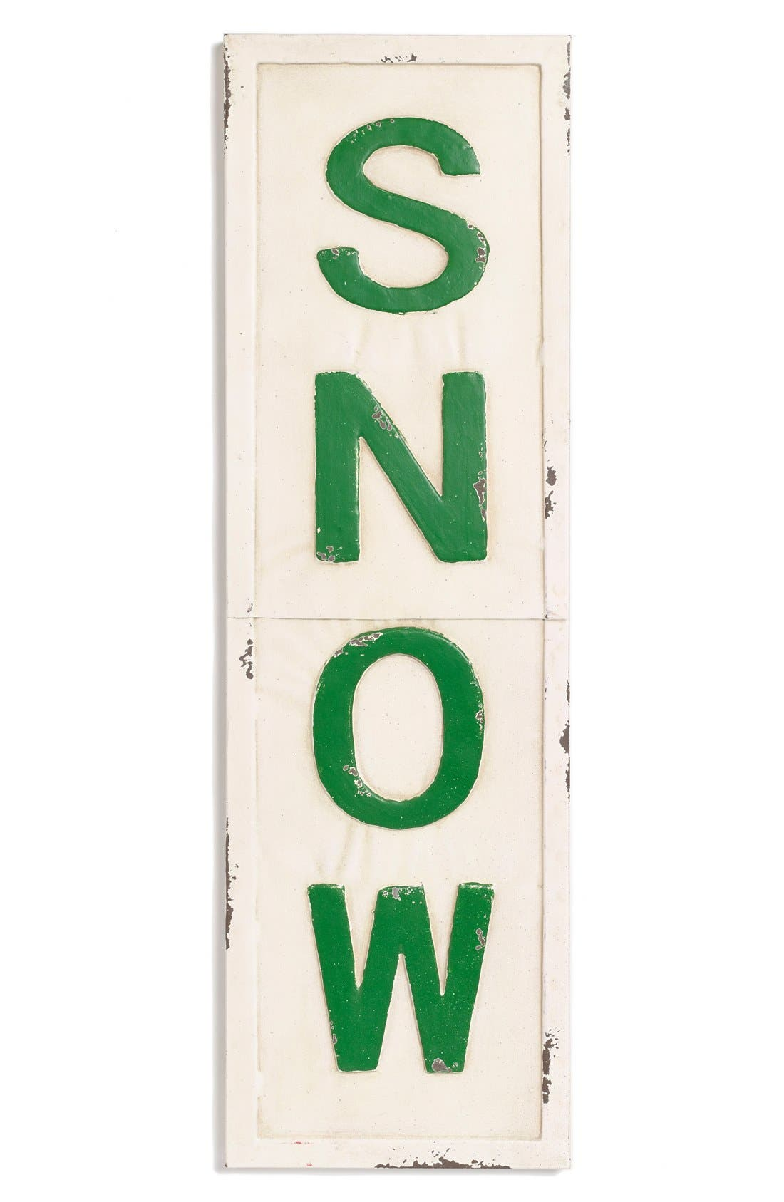 Main Image - Foreside'Snow' Vertical Metal Sign