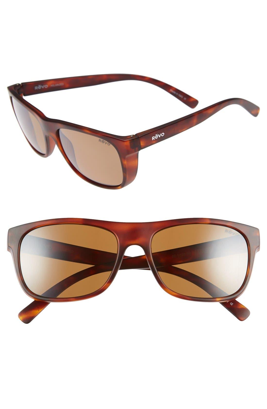 REVO 'Lukee' 56mm Polarized Sunglasses