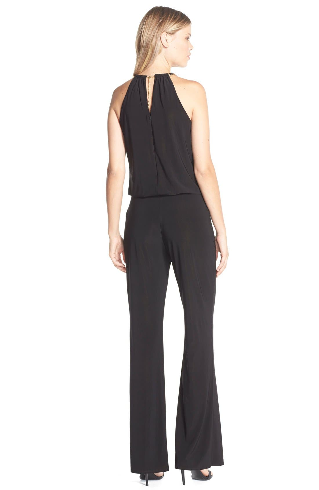 Alternate Image 2  - Laundry by Shelli Segal Chain Detail Jersey Jumpsuit