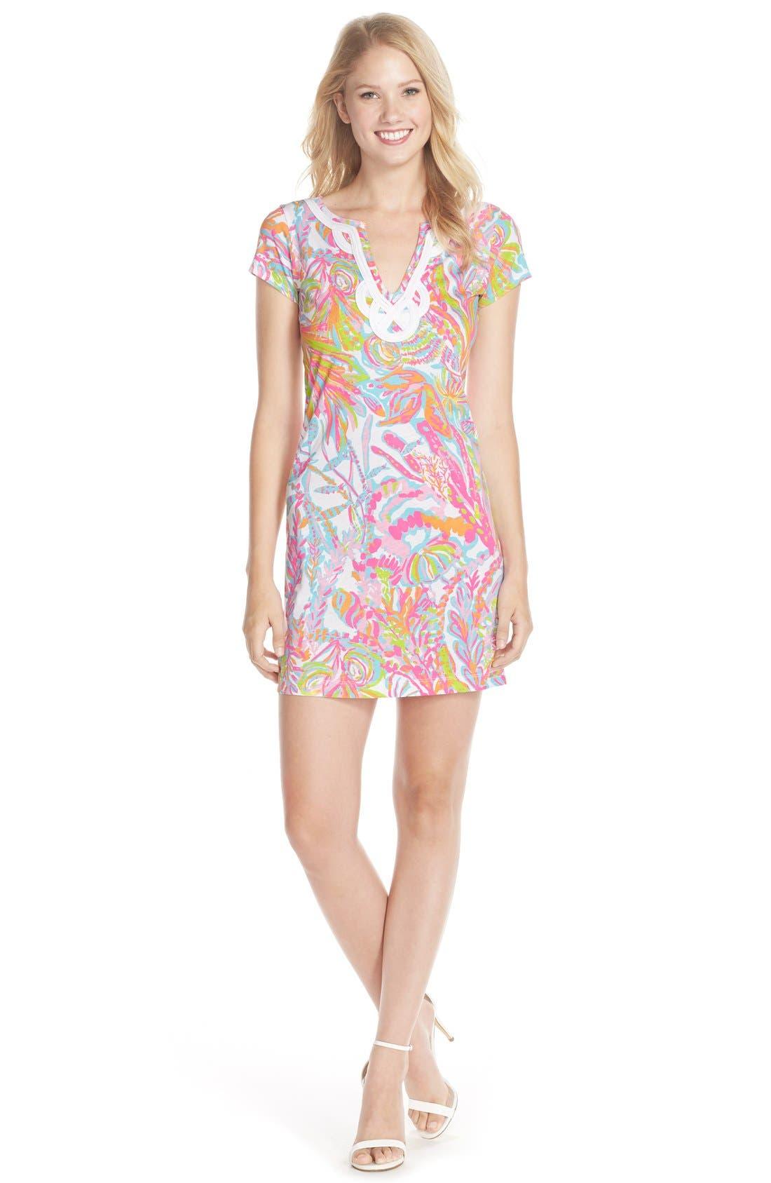 Alternate Image 3  - Lilly Pulitzer® 'Brewster' Contrast Trim Print T-Shirt Dress
