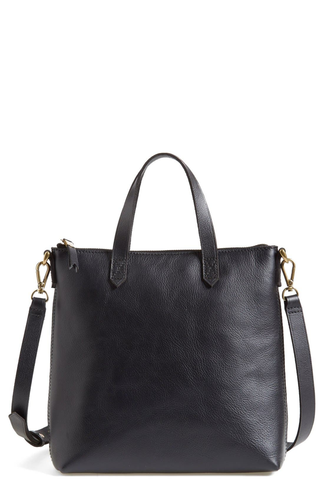 madewell the transport leather crossbody bag nordstrom