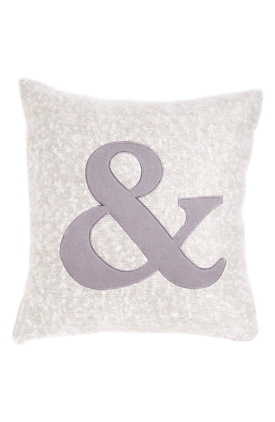Alternate Image 1 Selected - Nordstrom at Home Monogram ColorblockPillow