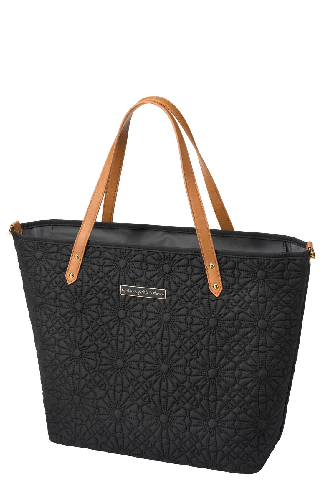PETUNIA PICKLE BOTTOM 'Downtown' Floral Embossed Diaper Tote