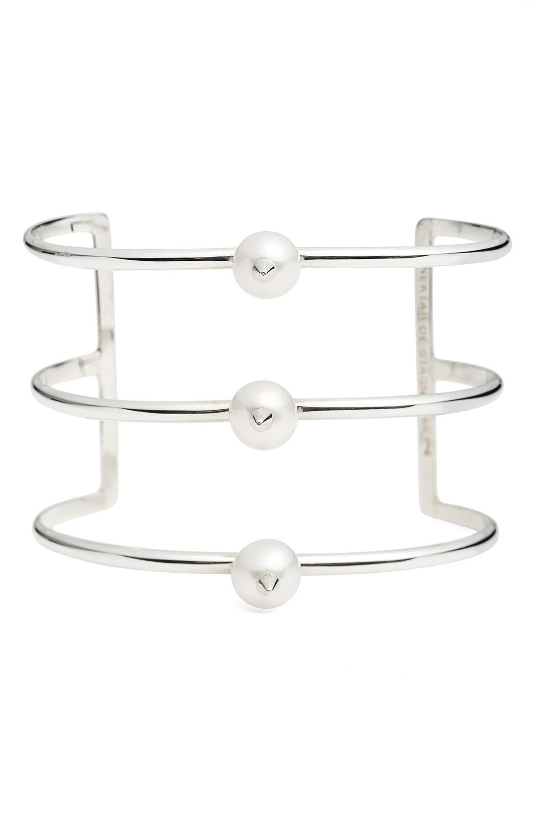 Main Image - Nektar de Stagni 'New Classics' Spike Cultured Pearl Triple Row Cuff
