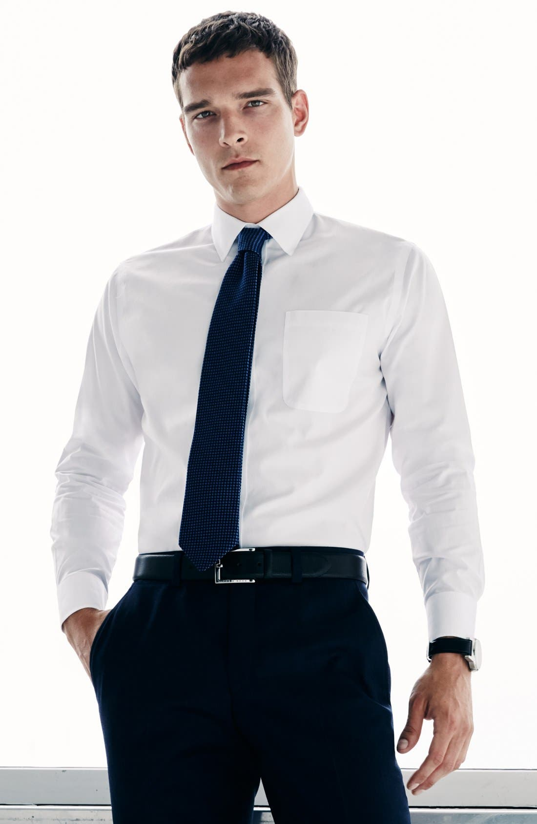 Alternate Image 6  - Nordstrom Men's Shop Smartcare™ Traditional Fit Dress Shirt