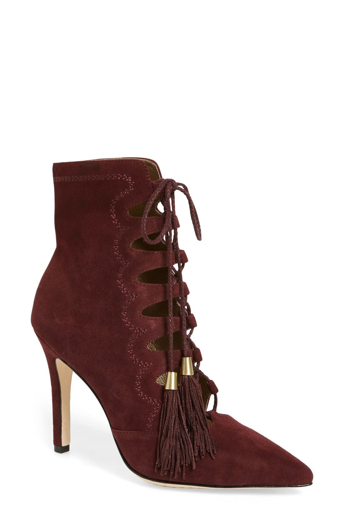 Alternate Image 1 Selected - Cynthia Vincent 'Harp' Lace Up Bootie(Women)