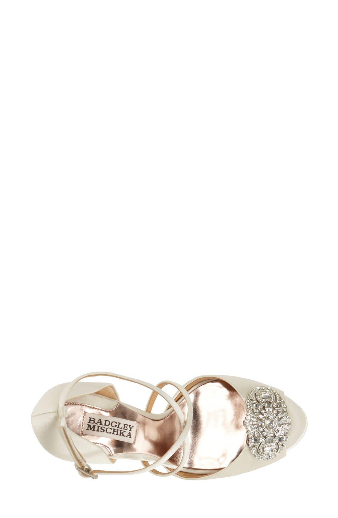 Alternate Image 3  - BadgleyMischka'Sari' Crystal OpenToe Sandal (Women)