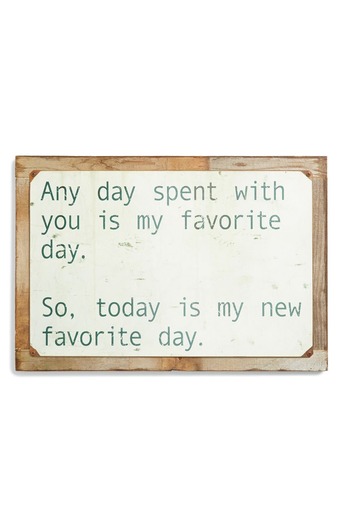 Alternate Image 1 Selected - Poncho & Goldstein'Any Day Spent With You' Sign
