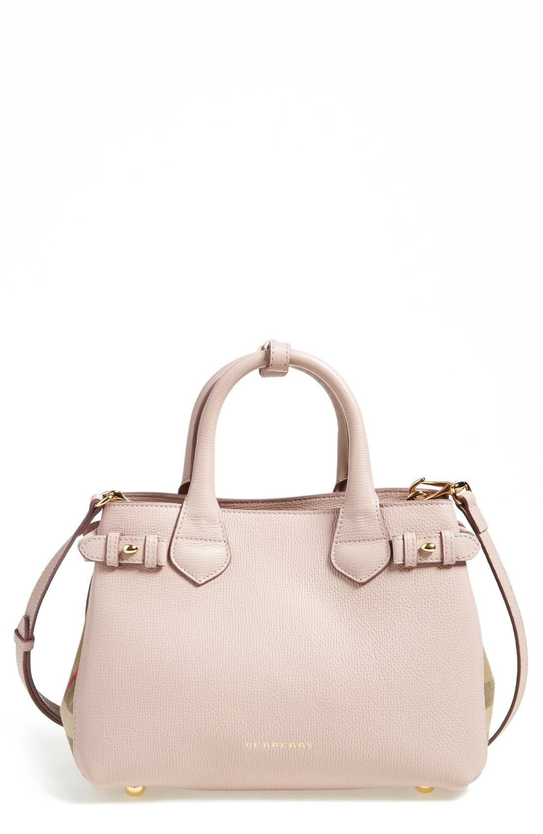 Alternate Image 1 Selected - Burberry 'Small Banner' Leather Tote