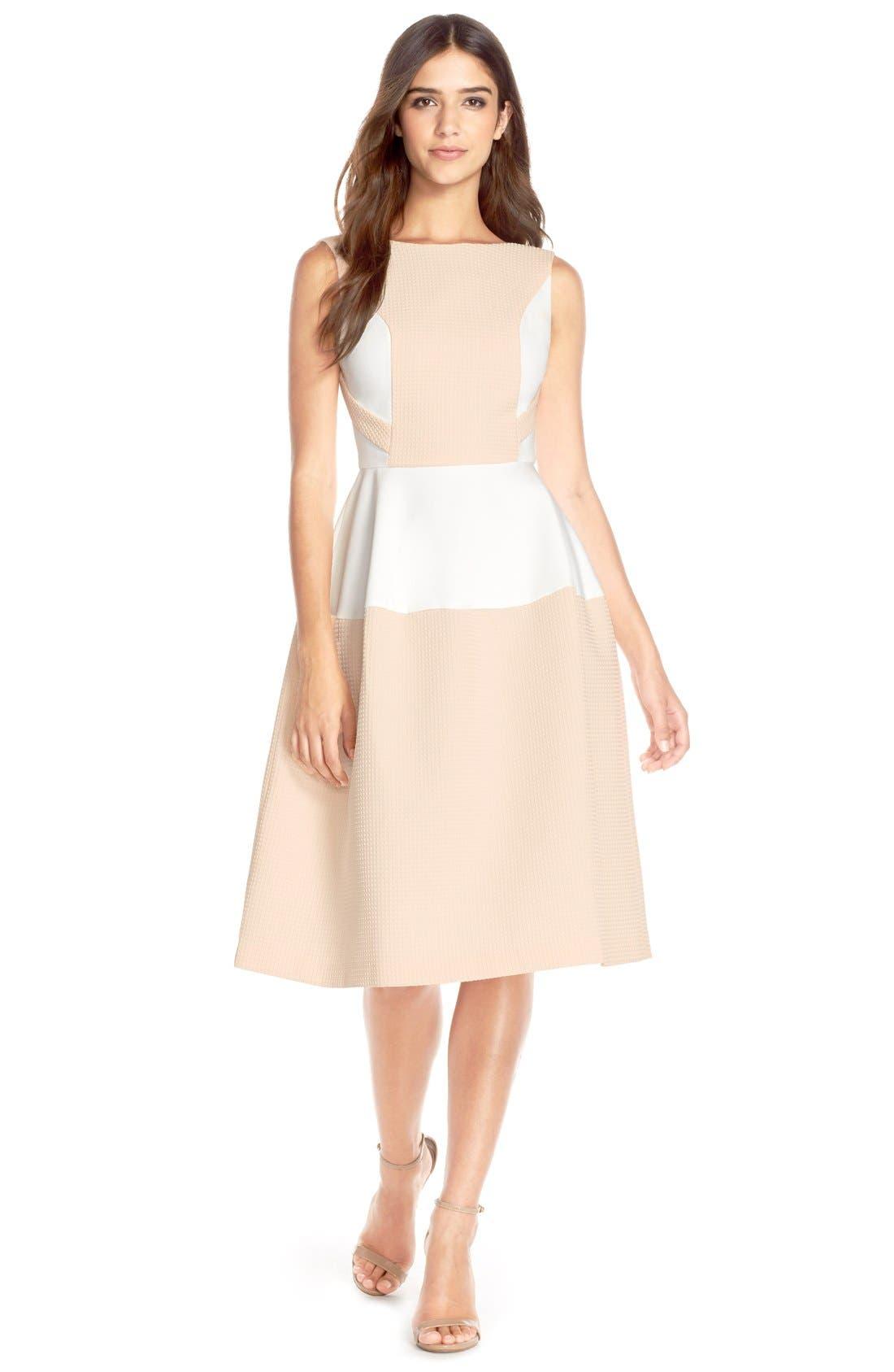 Alternate Image 3  - Elliatt'Perception' Texture PonteFit & Flare Dress