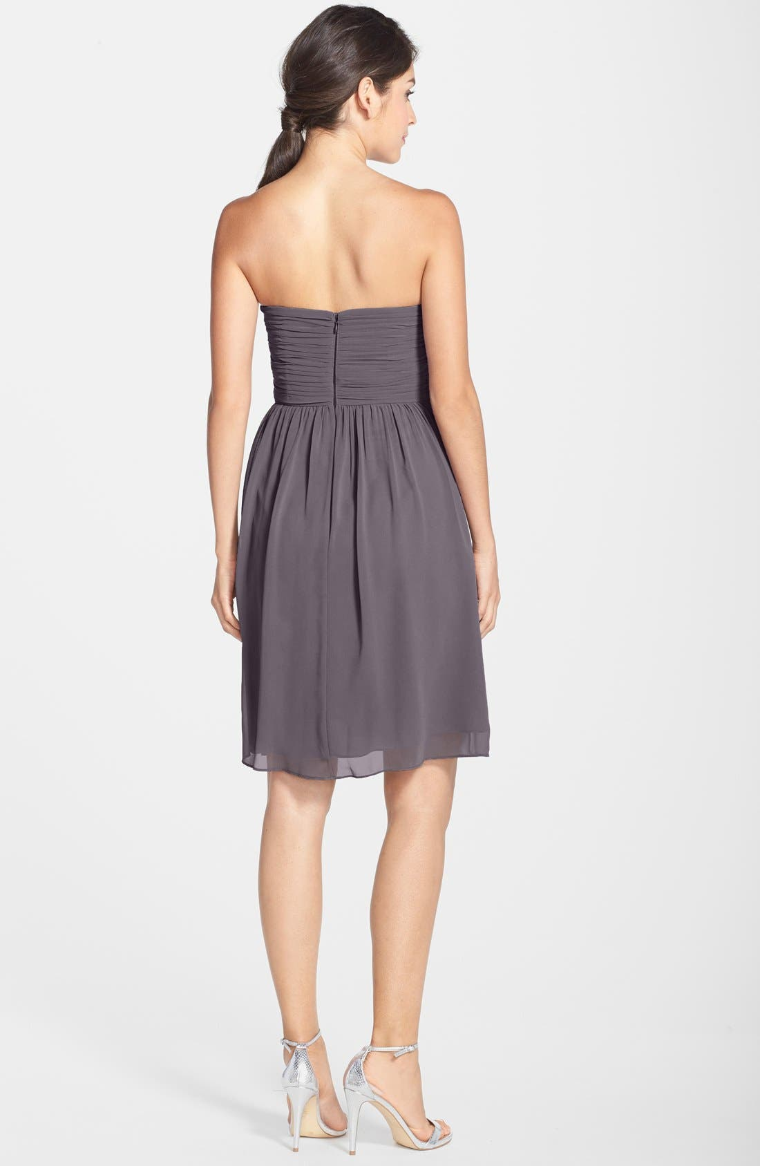 Alternate Image 2  - Donna Morgan 'Sarah' Strapless Ruched Chiffon Dress