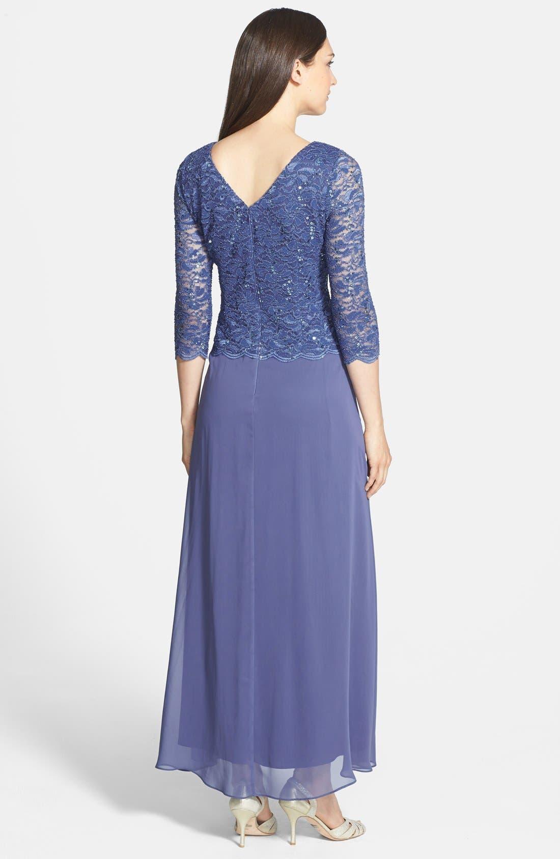 Alternate Image 2  - Alex Evenings Mock Two-Piece Dress (Regular & Petite)