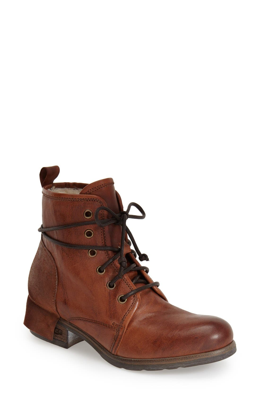Alternate Image 1 Selected - UGG® Collection 'Tesa' Lace-Up Ankle Boot (Women)