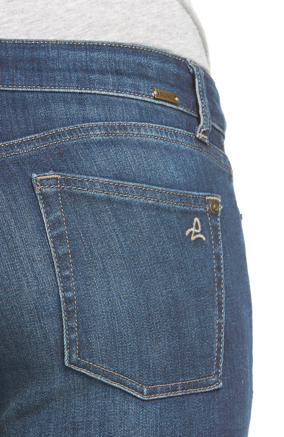 Alternate Image 4  - DL1961 'Margaux' Instasculpt Ankle Skinny Jeans (Winter)