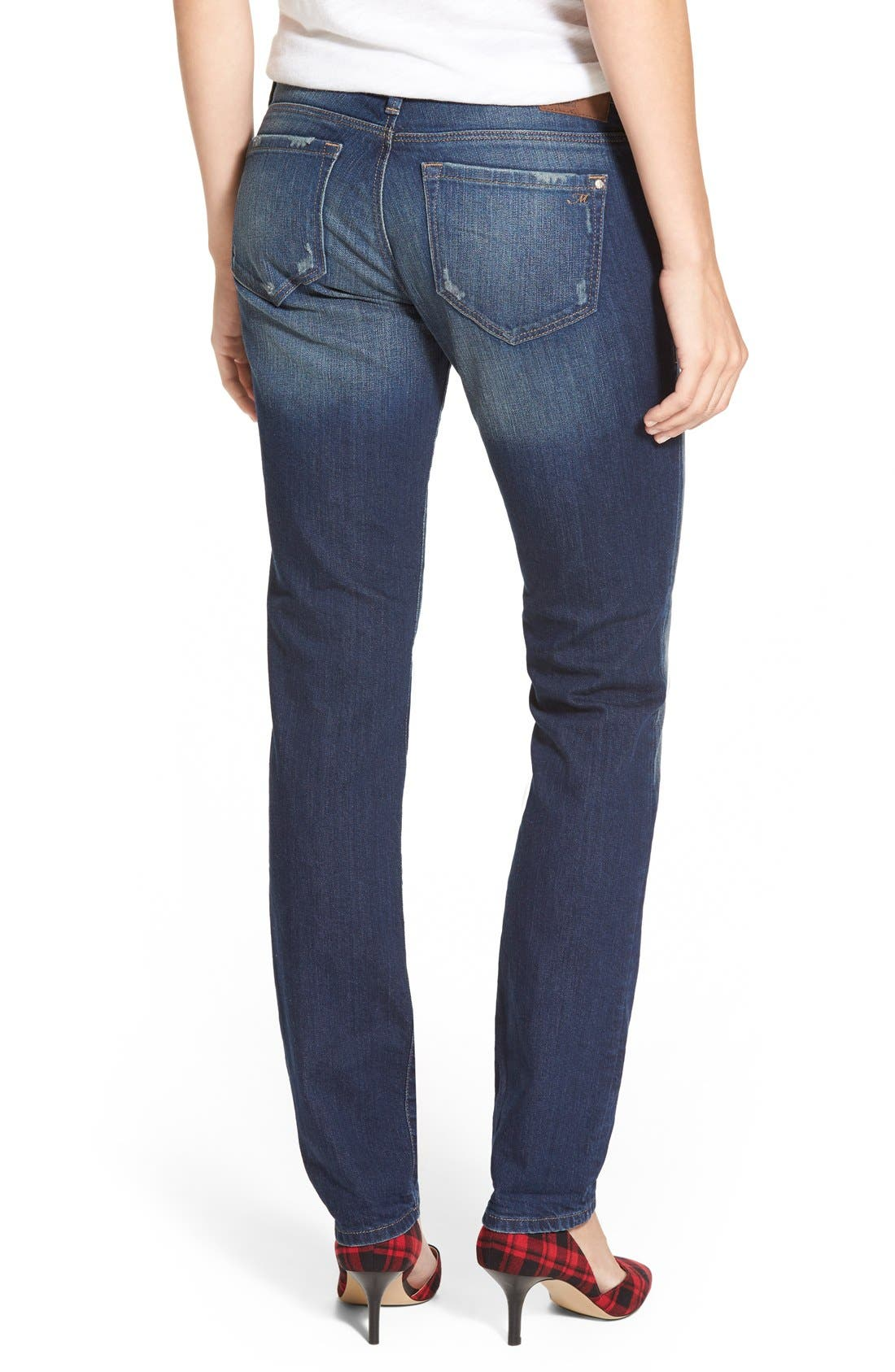 Alternate Image 2  - Mavi Jeans 'Emma' Stretch Slim Boyfriend Jeans (Dark Ripped Authentic)