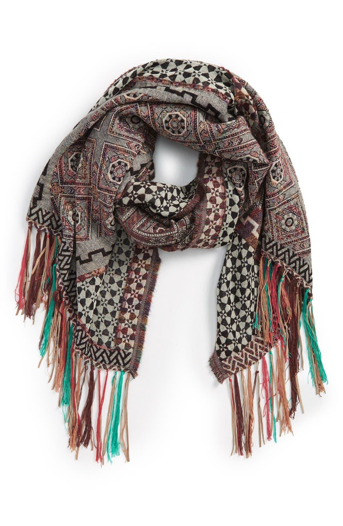 Main Image - VismayaAztec Print Fringe TrimScarf