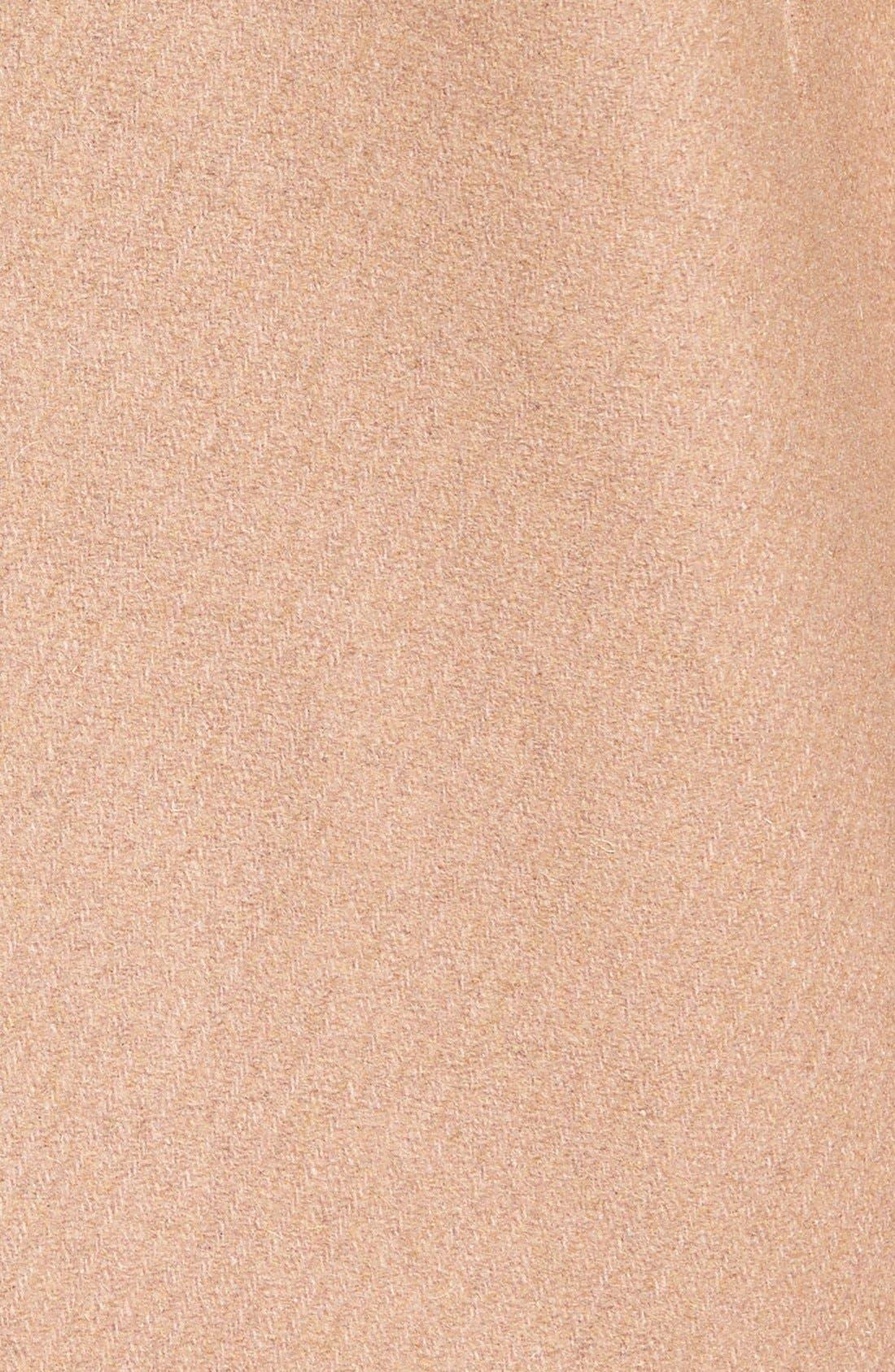 Alternate Image 5  - Cole Haan Faux Fur Trim Wool Blend Duffle Coat
