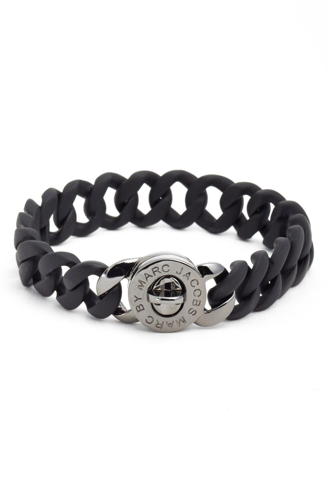Alternate Image 1 Selected - MARC JACOBS Rubberized Turnlock Bracelet
