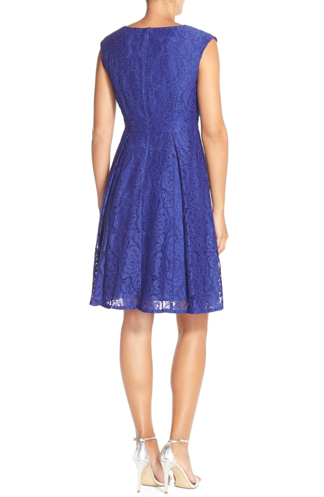 Alternate Image 2  - Adrianna PapellEmbellished Lace Fit & Flare Dress
